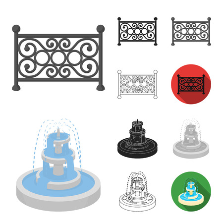Park, equipment cartoon,black,flat,monochrome,outline icons in set collection for design. Walking and rest vector symbol stock web illustration.
