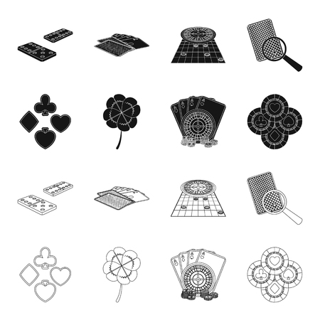 Excitement, casino, game and other web icon in black,outline style. Cheating, entertainment, recreation, icons in set collection. Illustration