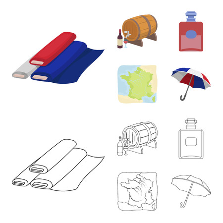 France, country, nation, national .France country set collection icons in cartoon,outline style vector symbol stock illustration web. Illusztráció