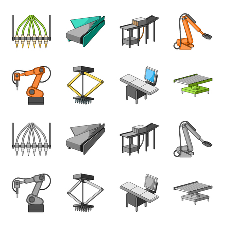 Automotive industry and other icon in cartoon,monochrome style.New technologies icons in set collection.