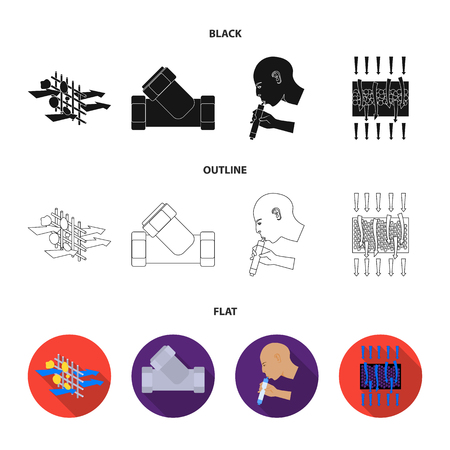 System, balloon, hand, trial .Water filtration system set collection icons in black,flat,outline style vector symbol stock illustration web.