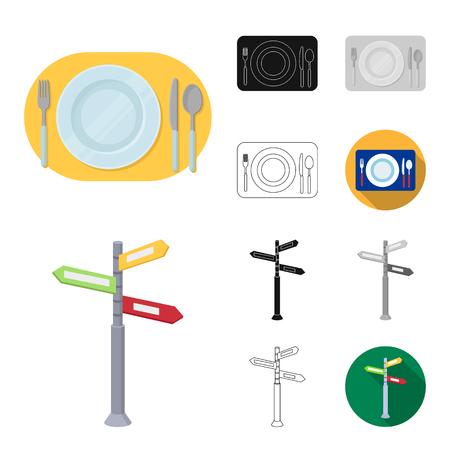 Rest and travel cartoon,black,flat,monochrome,outline icons in set collection for design. Transport, tourism vector symbol stock  illustration. Illustration