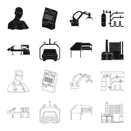 Automotive industry and other web icon in black,outline style.New technologies icons in set collection.