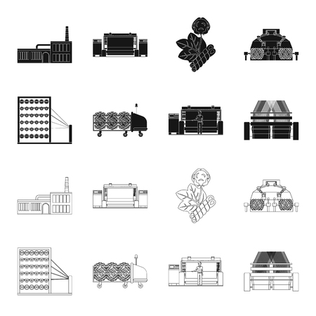 Machine, equipment, spinning, and other web icon in black,outline style., Appliances, inventory, textiles icons in set collection.