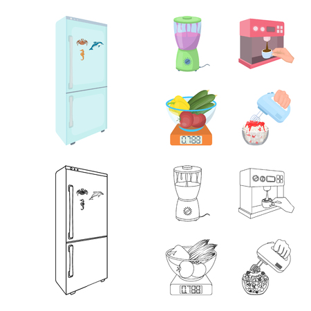kitchen, refreshment, restaurant and other web icon in cartoon,outline style.buttons, numbers, food icons in set collection.
