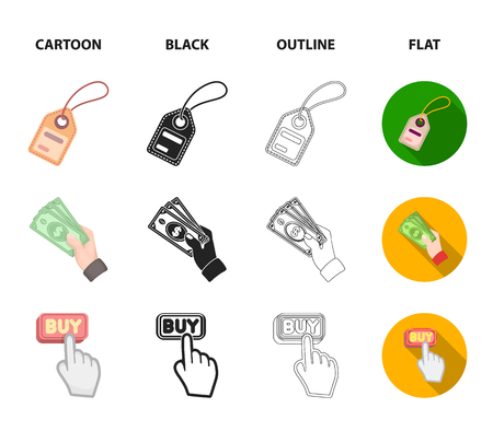 Hand, mobile phone, online store and other equipment. E commerce set collection icons in cartoon,black,outline,flat style vector symbol stock illustration web.