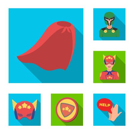 A fantastic superhero flat icons in set collection for design. Superheros equipment vector symbol stock web illustration. Stock Vector - 103069163