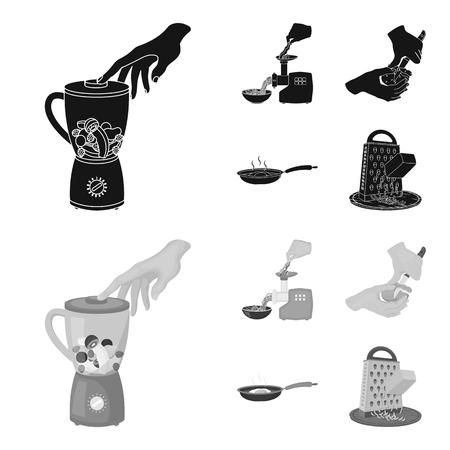 equipment, appliances, appliance and other  icon in black,monochrome style., cook, tutsi. Kitchen icons in set collection Illustration