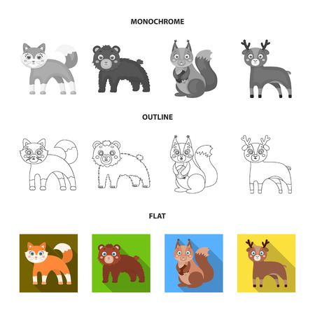 Zoo, nature, reserve and other web icon in flat,outline,monochrome style.Artiodactyl, nature, ecology, icons in set collection.
