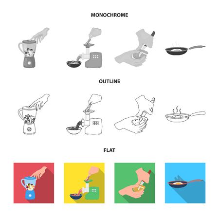 equipment, appliances, appliance and other web icon in flat,outline,monochrome style., cook, tutsi. Kitchen, icons in set collection.