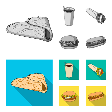 Fast, meal, eating and other web icon in monochrome,flat style.Pancakes, flour, products, icons in set collection.