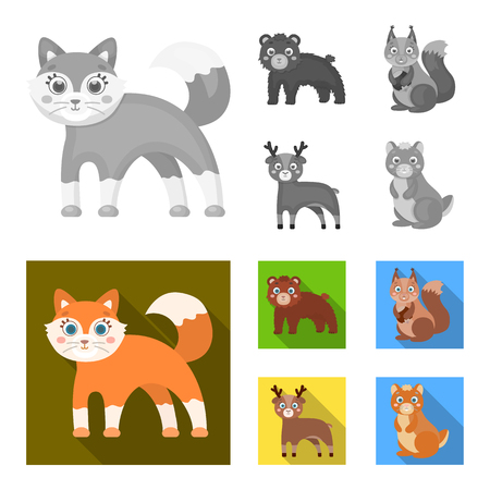 Zoo, nature, reserve and other web icon in monochrome,flat style.Artiodactyl, nature, ecology, icons in set collection.