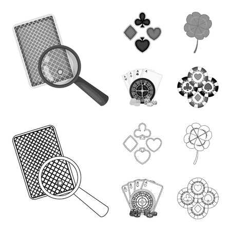 Excitement, casino, game and other  icon in outline,monochrome style. Cheating, entertainment, recreation, icons in set collection
