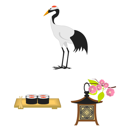 Country Japan cartoon icons in set collection for design.Japan and landmark vector symbol stock  illustration.