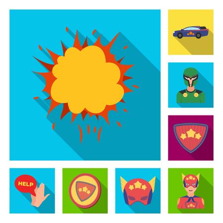 A fantastic superhero flat icons in set collection for design. Superhero equipment vector symbol stock illustration. Stock Vector - 103400871