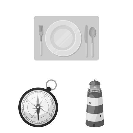 Rest and travel monochrome icons in set collection for design. Transport, tourism vector symbol stock web illustration.