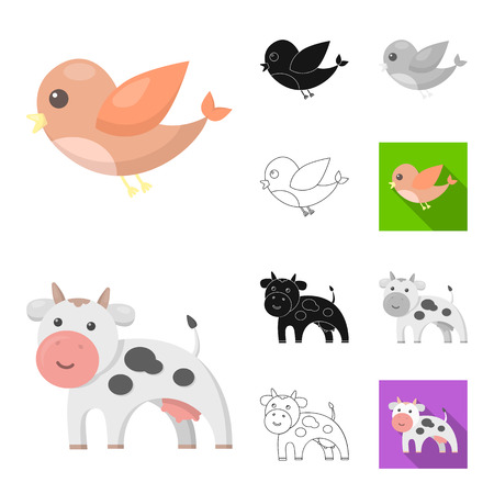 An unrealistic cartoon,black,flat,monochrome,outline animal icons in set collection for design. Toy animals vector symbol stock web illustration.