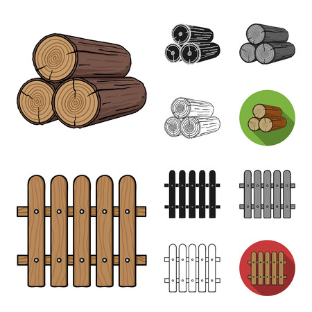 Sawmill and Timber cartoon,black,flat,monochrome,outline icons in set collection for design. Hardware and Tools vector symbol stock web illustration.