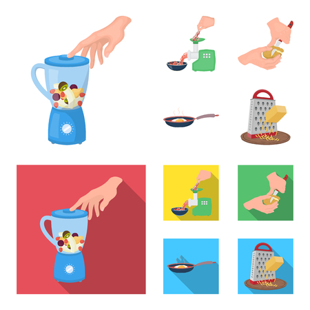 equipment, appliances, appliance and other  icon in cartoon,flat style., cook, tutsi. Kitchen icons in set collection Ilustração