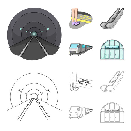 Electric, transport, equipment and other web icon in cartoon,outline style.Public, transportation,machineryicons in set collection. Vectores