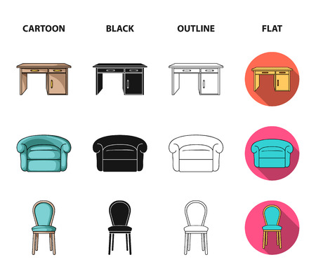 Interior, design, bed, bedroom .Furniture and home interiorset collection icons in cartoon,black,outline,flat style vector symbol stock illustration .