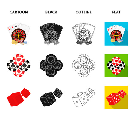 Excitement, casino, game and other web icon in cartoon,black,outline,flat style. Cheating, entertainment, recreation, icons in set collection.