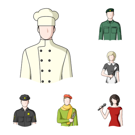 People of different professions cartoon icons in set collection for design. Worker and specialist vector symbol stock  illustration. Illustration