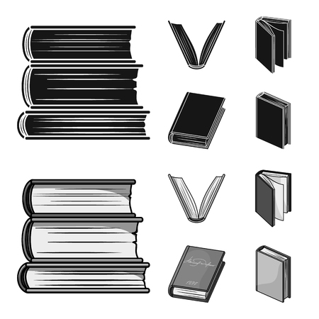 Various kinds of books. Books set collection icons in black,monochrome style vector symbol stock illustration .