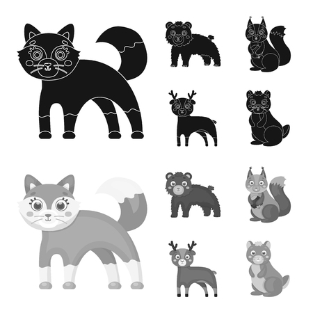 Zoo, nature, reserve and other web icon in black,monochrome style.Artiodactyl, nature, ecology, icons in set collection.