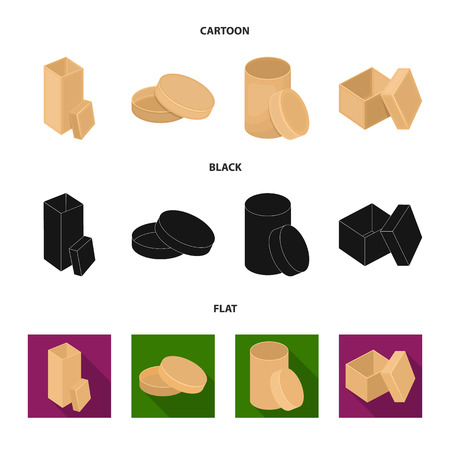 Box, container, package, and other web icon in cartoon,black,flat style.Case, shell, framework, icons in set collection.