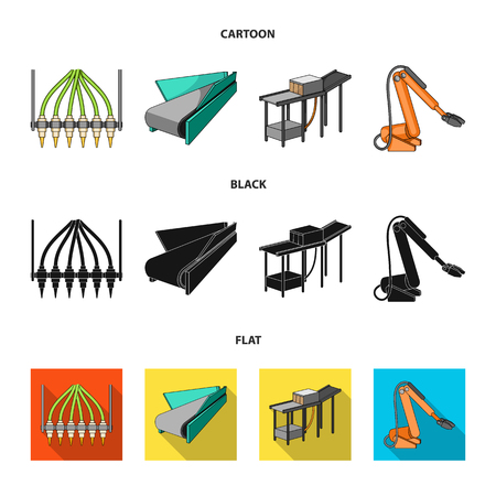 Modern equipment and other web icon in cartoon,black,flat style.Machine tools and equipment factory icons in set collection.