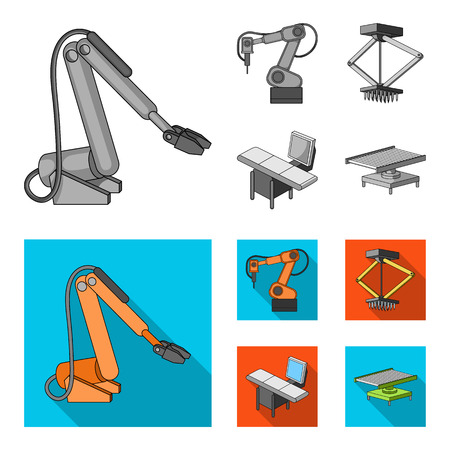 Automotive industry and other  icon in monochrome,flat style.New technologies icons in set collection. Illustration