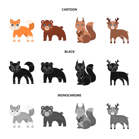 Zoo, nature, reserve and other web icon in cartoon,black,monochrome style.Artiodactyl, nature, ecology, icons in set collection.