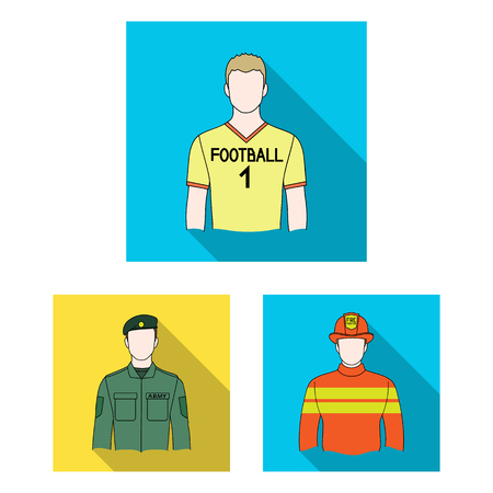 People of different professions flat icons in set collection for design. Worker and specialist vector symbol stock web illustration. Ilustrace