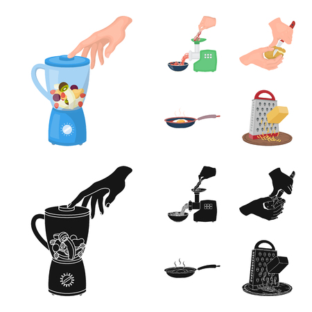 equipment, appliances, appliance and other web icon in cartoon,black style., cook, tutsi. Kitchen, icons in set collection.