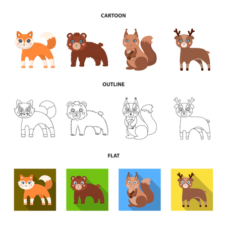 Zoo, nature, reserve and other  icon in cartoon,outline,flat style.Artiodactyl, nature, ecology icons in set collection Illustration