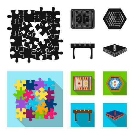 Board game black, flat icons in set collection for design. Game and entertainment vector symbol stock  illustration.