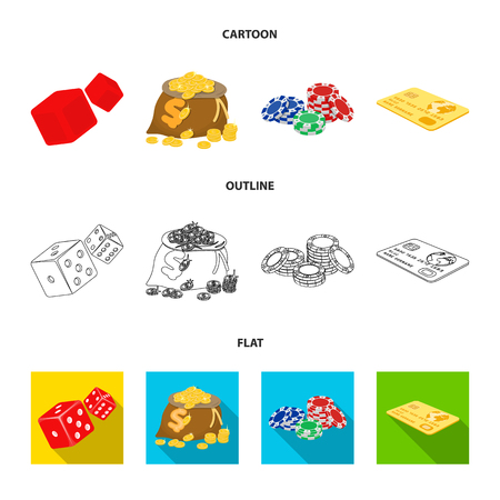 Excitement, recreation, hobby and other web icon in cartoon,outline,flat style.Casino, institution, entertainment, icons in set collection. Ilustrace