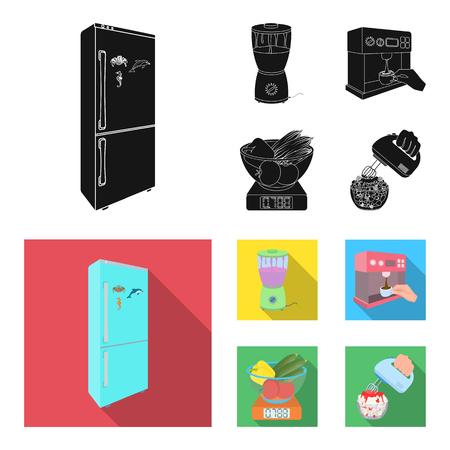 cocina, refrescos, restaurante y otro icono en negro, estilo plano. botones, números, iconos de comida en la colección de conjunto.