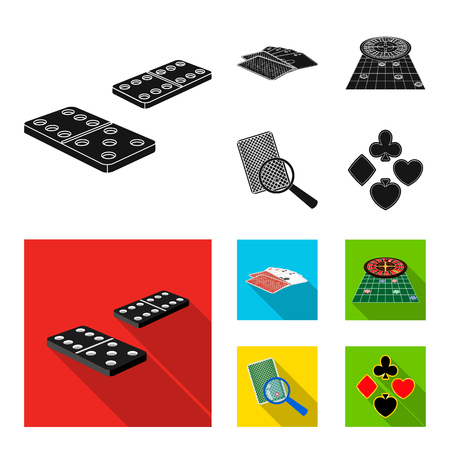 Excitement, casino, game and other  icon in black, flat style Magnifier, cheating, entertainment, icons in set collection.