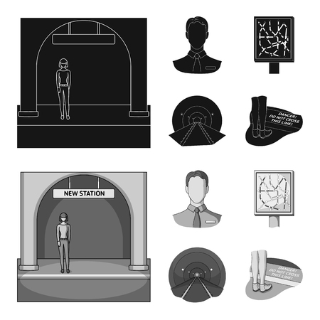Mechanisms, electric transport and other  icon in black,monochrom style.Transport, public, equipment icons in set collection.