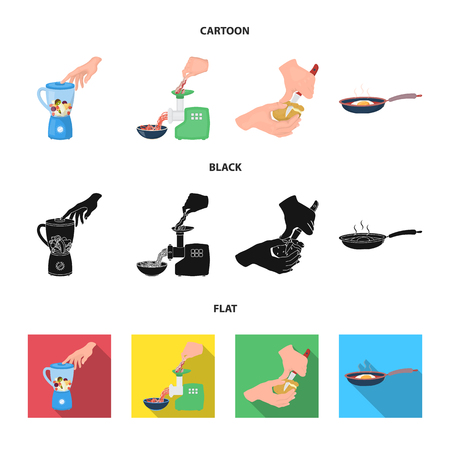 equipment, appliances, appliance and other web icon in cartoon,black,flat style., cook, tutsi. Kitchen, icons in set collection. Illustration