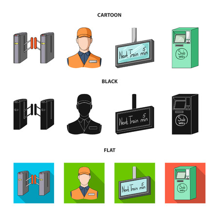 Mechanism,electric ,transport, and other web icon in cartoon,black,flat style. Pass, public, transportation, icons in set collection.