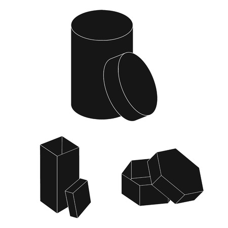 Different boxes black icons in set collection for design.Packing box vector symbol stock web illustration.