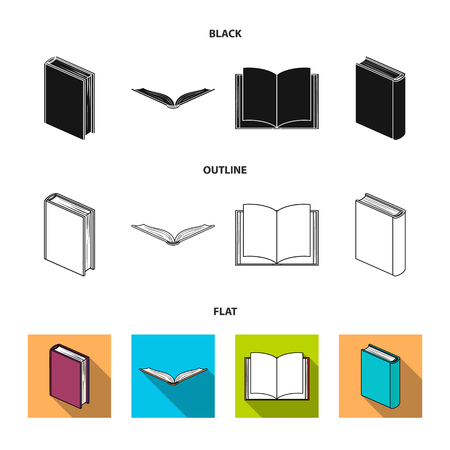 Various kinds of books. Books set collection icons in black,flat,outline style vector symbol stock illustration web.
