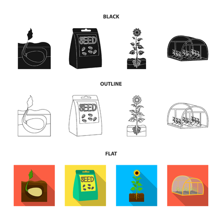 Company, ecology, and other web icon in black,flat,outline style. Husks, fines, garden icons in set collection.