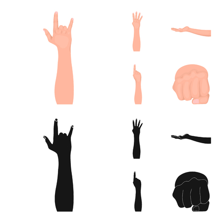 Sign Language cartoon,black icons in set collection for design.Emotional part of communication vector symbol stock web illustration.