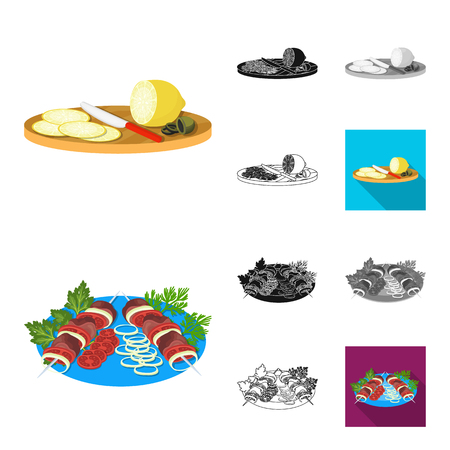 Cooking food cartoon,black,flat,monochrome,outline icons in set collection for design. Kitchen, equipment and tools vector symbol stock  illustration.