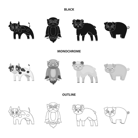 Forest, ecology, toys and other web icon in black,monochrome,outline style.Animals, farm, enterprises icons in set collection.