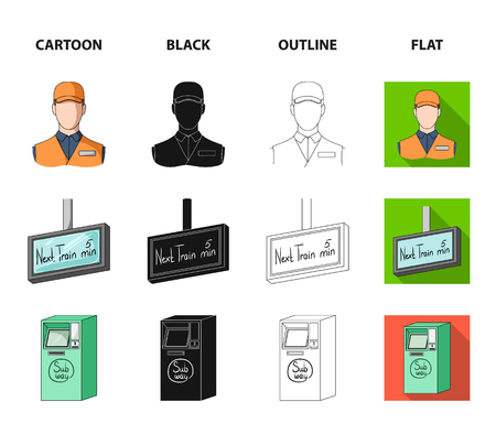 Mechanism,electric ,transport, and other web icon in cartoon,black,outline,flat style. Pass, public, transportation, icons in set collection.